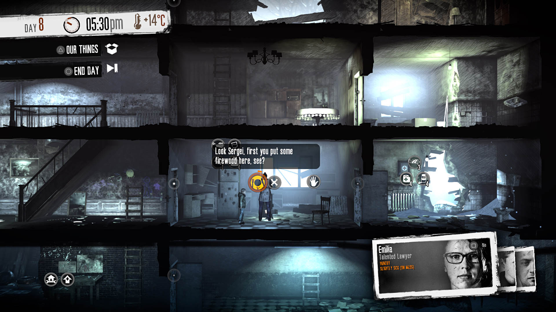 Скриншот №1 к This War of Mine The Little Ones