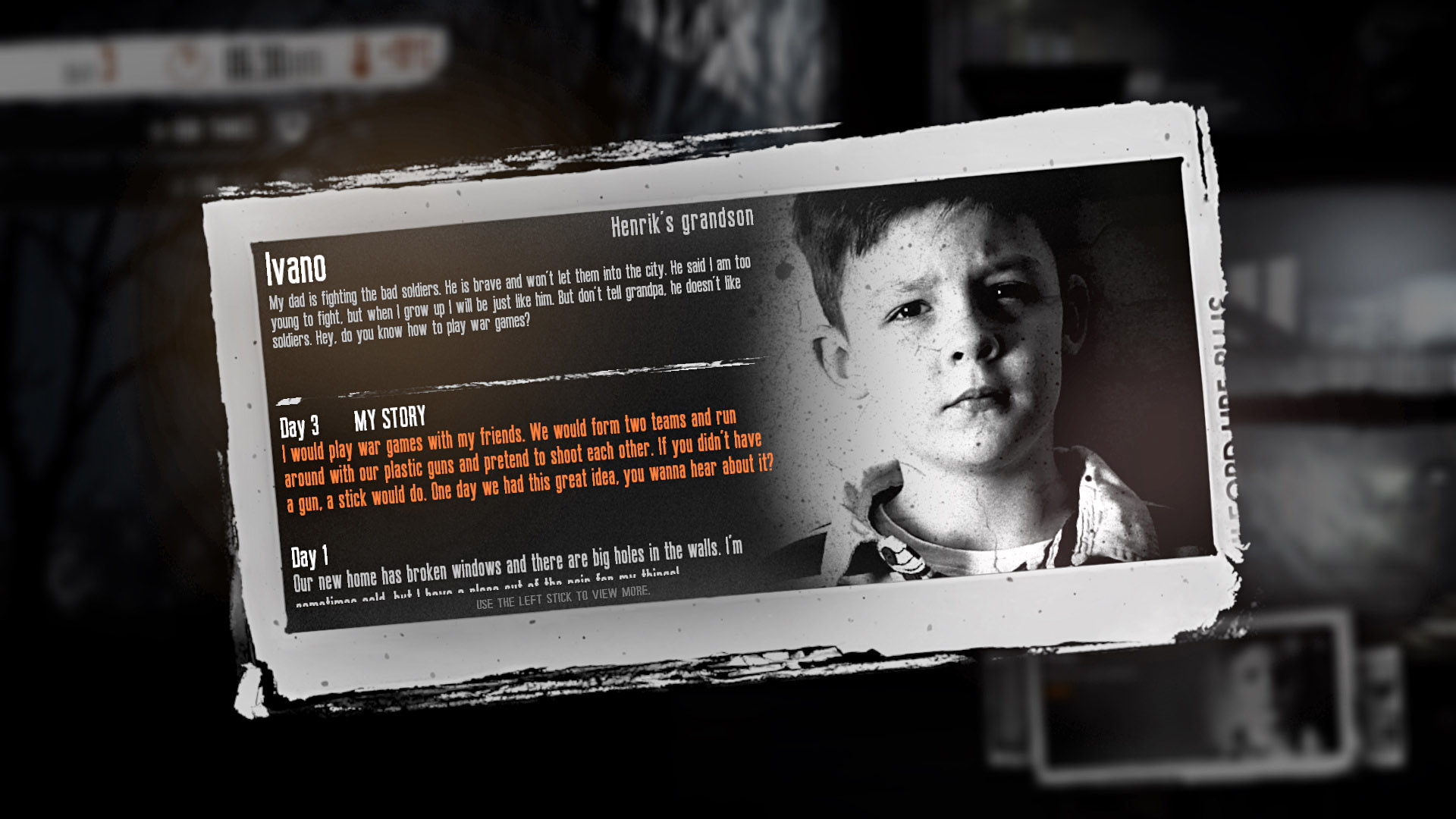Скриншот №3 к This War of Mine The Little Ones